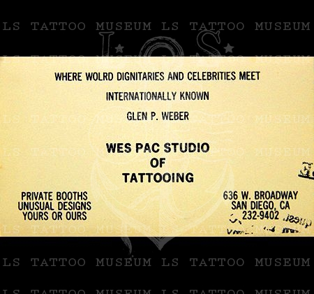 Glen P. Weber Business Card - Worked with Doc Webb