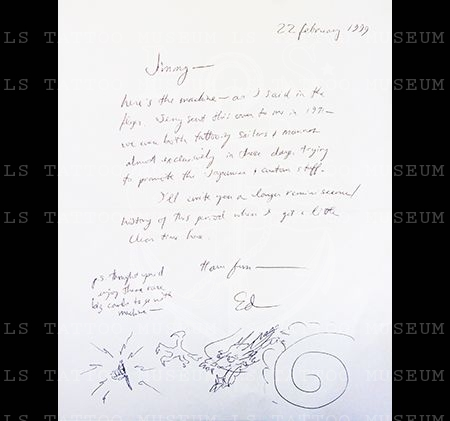 Letter from Ed Hardy to Jimmy Hankins / Feb 22, 1999